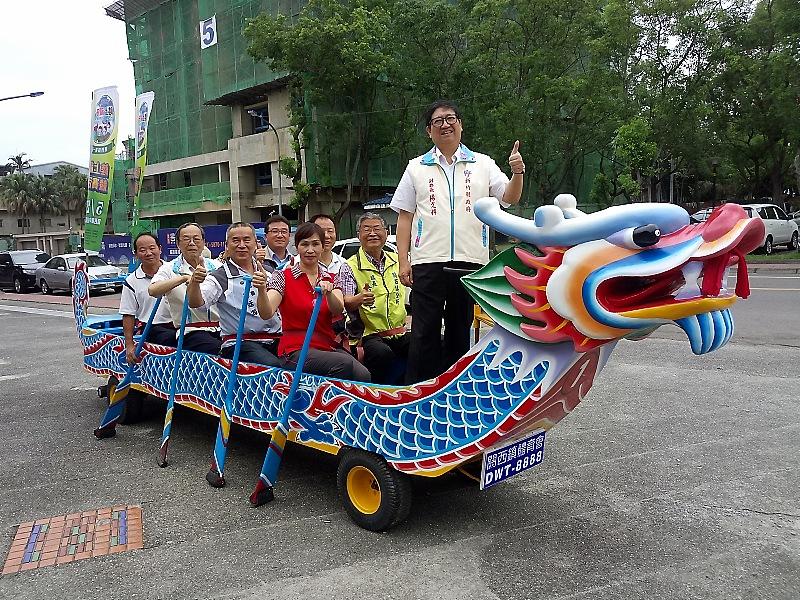 新竹縣首次舉辦的陸上龍舟競賽