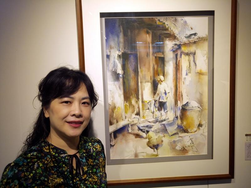 丘璦珍水彩油畫創作個展