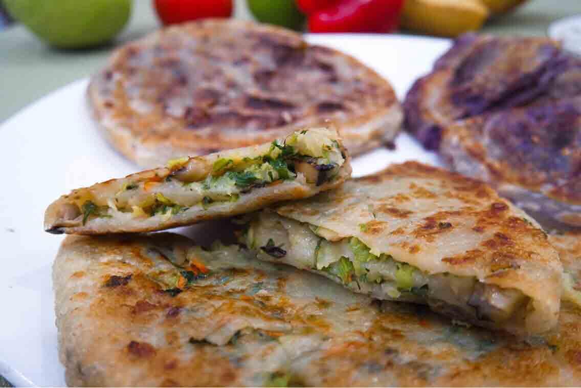 板橋府中綠色輕食千層蔬菜煎餅健康又美味