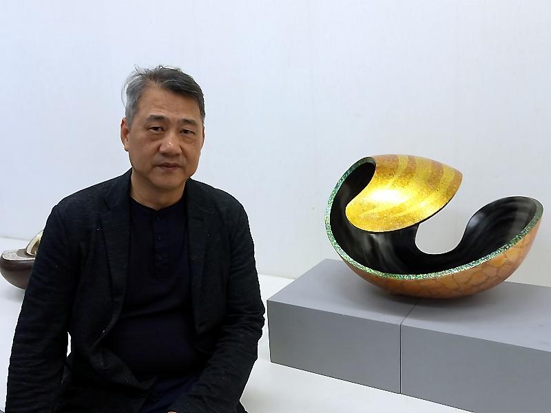 榮獲日本文部科學大臣賞的漆器作品在中華大學展出