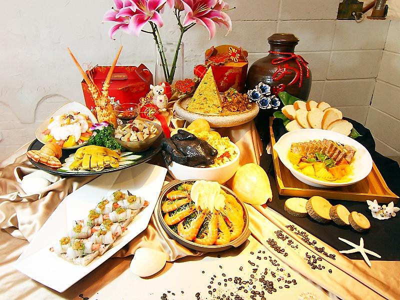 桃園人文花園餐廳規劃的除夕桌席