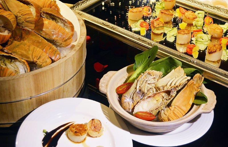 吃到飽餐廳食材再進化蟬蝦干貝呷免驚港點推車台灣小吃邊吃邊配...