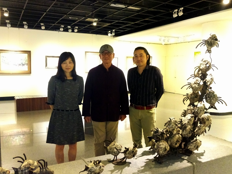 3+1油版彩陶展在新竹市文化局梅苑展出
